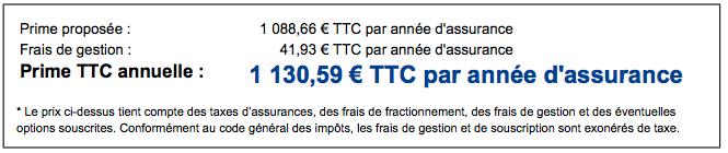 presentation tarif prime assurance décennale